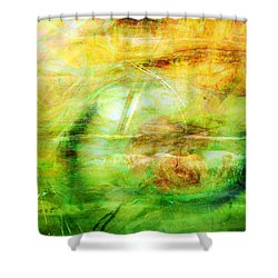 Pooh Sticks Shower Curtain by Valerie Anne Kelly
