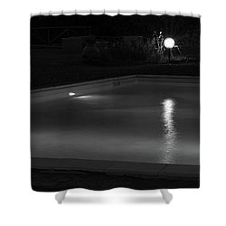 Pool At Night 2 Shower Curtain