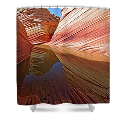 Pool At The Wave Shower Curtain
