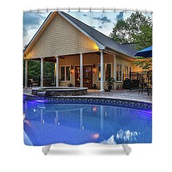 Pool House Shower Curtain