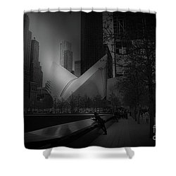 Shower Curtain featuring the photograph Pool Station, Bw by Paul Cammarata