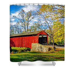 Poole Forge Covered Bridge Shower Curtain