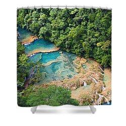 Pools Panorama Shower Curtain by Yuri Santin
