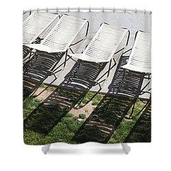 Poolside Shower Curtain by Lauri Novak