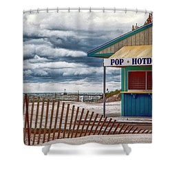 Pop And Hotdogs Shower Curtain