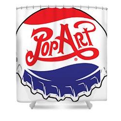 Pop Art Bottle Cap Shower Curtain