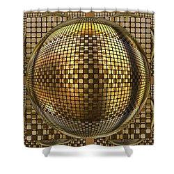 Pop Art Circles Shower Curtain