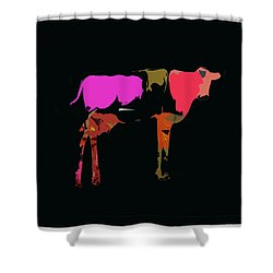 Pop Art Cow Shower Curtain
