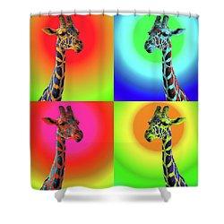 Shower Curtain featuring the photograph Pop Art Giraffe by James Sage