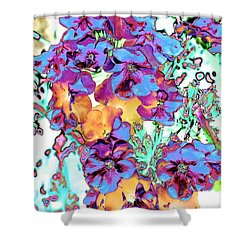 Pop Art Pansies Shower Curtain by Marianne Dow
