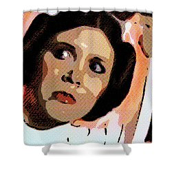 Pop Art Princess Leia Organa Shower Curtain