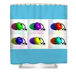 Shower Curtain featuring the photograph Pop-art Tomatoes by Shawna Rowe