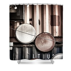 Pop Brixton - Industrial Style Shower Curtain