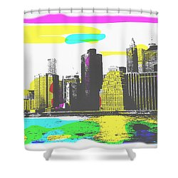 Pop City Skyline Shower Curtain