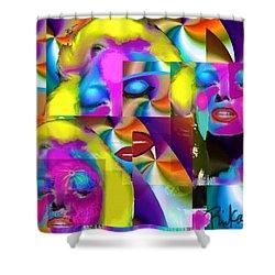 Pop Cubist Marilyn Shower Curtain