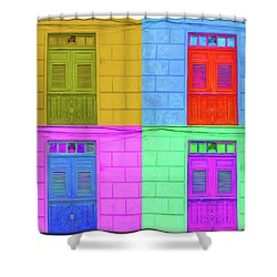 Pop Doors Shower Curtain