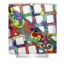 Pop-pop Shower Curtain