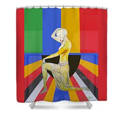 Popart Showgirl 2 Shower Curtain by Tom Conway