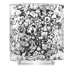 Popcorn Shower Curtain by Melinda Dare Benfield