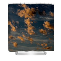 Shower Curtain featuring the photograph Popcorn Sunset by Cathie Douglas