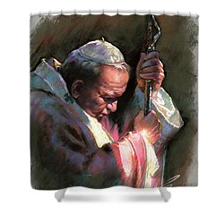 Pope John Paul II Shower Curtain