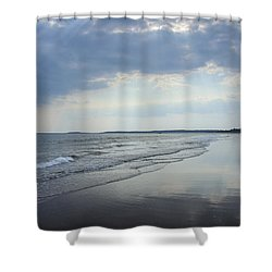 Shower Curtain featuring the photograph Popham Beach by Alana Ranney