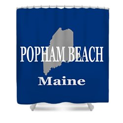Shower Curtain featuring the photograph Popham Beach Maine State City And Town Pride  by Keith Webber Jr
