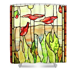 Shower Curtain featuring the photograph Poppies 1 by Kristin Elmquist