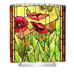 Shower Curtain featuring the photograph Poppies 2 by Kristin Elmquist