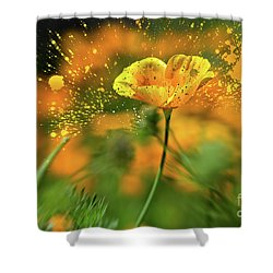 Poppies Are Popping Shower Curtain