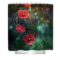 Poppies Fairytale Shower Curtain