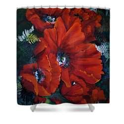 Poppies In Light IIi Shower Curtain