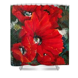 Poppies In Light Shower Curtain