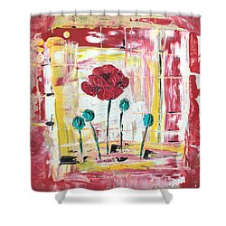Poppies In The Window Shower Curtain