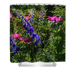 Poppies Shower Curtain by Lisa L Silva