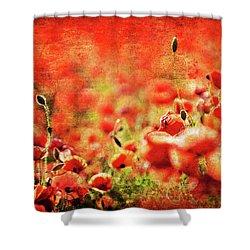 Poppies Shower Curtain by Meirion Matthias