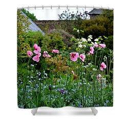 Poppies Of The Great Dixter Shower Curtain by Tanya Searcy