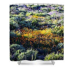 Shower Curtain featuring the photograph Poppies On A Hillside by Glenn McCarthy Art and Photography