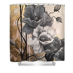 Poppies On Gold Shower Curtain