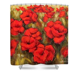 Poppies Passion Fragment Shower Curtain