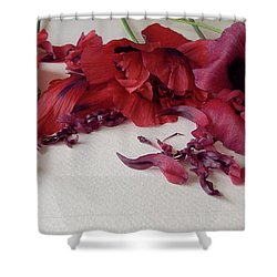 Poppies Petals Shower Curtain