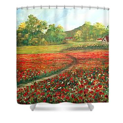 Poppies Time Shower Curtain