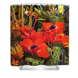 Shower Curtain featuring the photograph Poppiest by Cathy Dee Janes