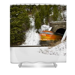 Popping Out Of Tunnel 1012 Shower Curtain