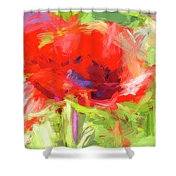 Shower Curtain featuring the photograph Poppy Abstract Photo Art by Sharon Talson