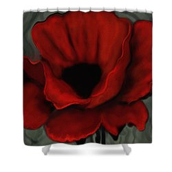 Poppy Close Up Shower Curtain