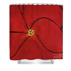 Poppy Dots Shower Curtain