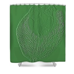 Poppy Embossing  Shower Curtain