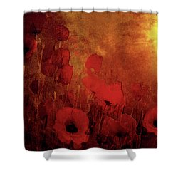Poppy Heaven Shower Curtain