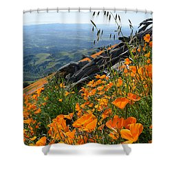 Poppy Mountain  Shower Curtain